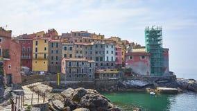 美丽如画的镇Tellaro -利古里亚-拉斯佩齐亚港口海湾- 免版税库存照片