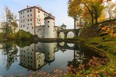 美丽如画的13世纪SneÅ ¾ nik城堡 库存图片