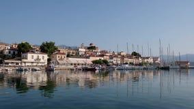 美丽如画的Galaxidi,希腊,横跨内在港口的看法 影视素材