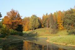 美丽如画秋天的横向 库存图片