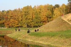 美丽如画秋天的横向 免版税库存图片