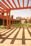 美丽如画阿拉伯的庭院 图库摄影