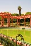 美丽如画阿拉伯的庭院 库存照片