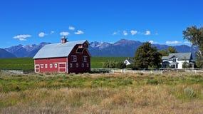 美丽如画的农场,俄勒冈 免版税库存图片