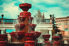 美丽如画的喷泉 免版税库存图片