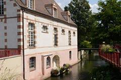 美丽如画的市德勒在厄尔省和卢瓦河 免版税库存照片
