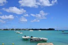 美丽如画的市毛里求斯共和国的格兰德贝 免版税库存照片