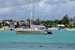 美丽如画的市毛里求斯共和国的格兰德贝 免版税图库摄影