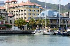 美丽如画的市毛里求斯共和国的路易港 免版税库存图片