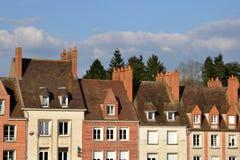 美丽如画的市然镇在卢瓦雷省 免版税图库摄影