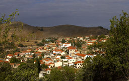 美丽如画的希腊村庄 库存图片