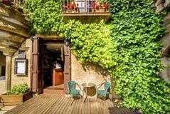 美丽如画的房子在Catalunya 库存照片