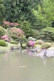 美丽如画的日本庭院 免版税库存照片