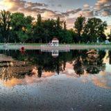 美丽如画的湖 库存图片