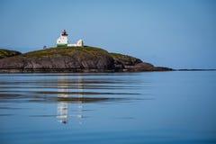 美丽如画的灯塔在挪威 免版税库存图片