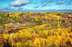 美丽如画的秋天风景 库存图片