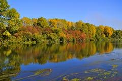 美丽如画的秋天风景 免版税库存图片