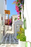 美丽如画的米科诺斯岛 免版税库存图片