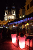 美丽如画的老镇中心布拉格 免版税库存照片