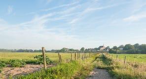 美丽如画的荷兰农村风景 免版税库存照片