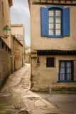 美丽如画的角落在城堡 卡尔卡松 法国 图库摄影