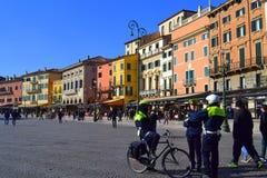美丽如画的维罗纳视图,意大利 免版税库存图片