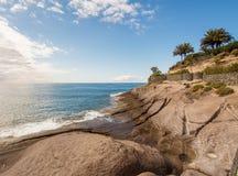 美丽如画的El杜克海滩在特内里费岛 图库摄影