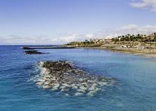 美丽如画的El杜克海滩在特内里费岛 库存图片