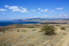 美丽如画的landskape在克里米亚 免版税库存图片