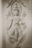美丽寺庙描述男性神的墙壁艺术 库存照片