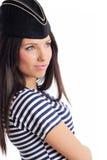 美丽的上尉女孩帽子s 图库摄影