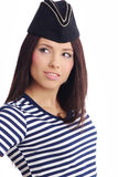 美丽的上尉女孩帽子s 免版税库存图片