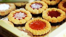 美丽的不同的曲奇饼,一个可口点心 免版税图库摄影