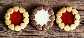 美丽的不同的曲奇饼,一个可口点心 免版税库存照片