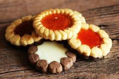 美丽的不同的曲奇饼,一个可口点心 免版税库存图片