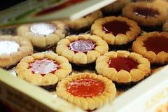 美丽的不同的曲奇饼,一个可口点心 库存照片