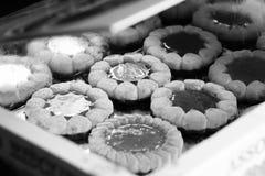 美丽的不同的曲奇饼,一个可口点心 库存图片
