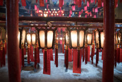 美丽的东华三院文武庙在香港 库存照片