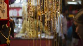 美丽的东方金首饰印地安人,阿拉伯人,埃及 免版税库存图片