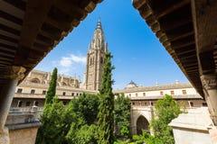 美丽的中世纪托莱多,西班牙看法  免版税库存照片