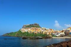 美丽的中世纪镇Castelsardo,撒丁岛,意大利 库存照片