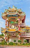 美丽的中国人寺庙寺庙 免版税库存照片