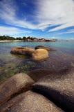 美丽的丹戎Tinggi海滩Belitong 库存图片