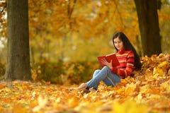 美丽的书女孩 库存照片