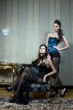 美丽的二妇女 免版税图库摄影