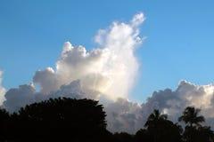 美丽的云彩和天空 库存图片