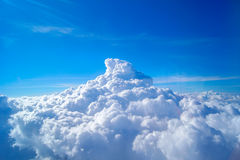 美丽的云彩天空 免版税库存图片