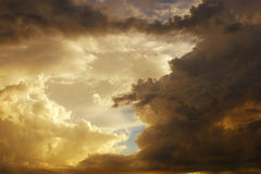 美丽的云彩风暴 库存照片