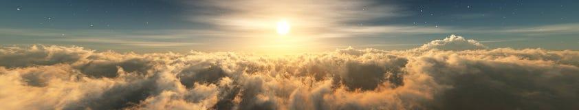 美丽的云彩,云彩全景, 库存图片