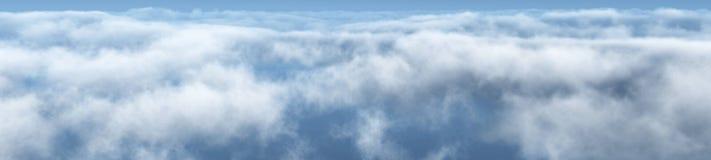 美丽的云彩,云彩全景  库存图片
